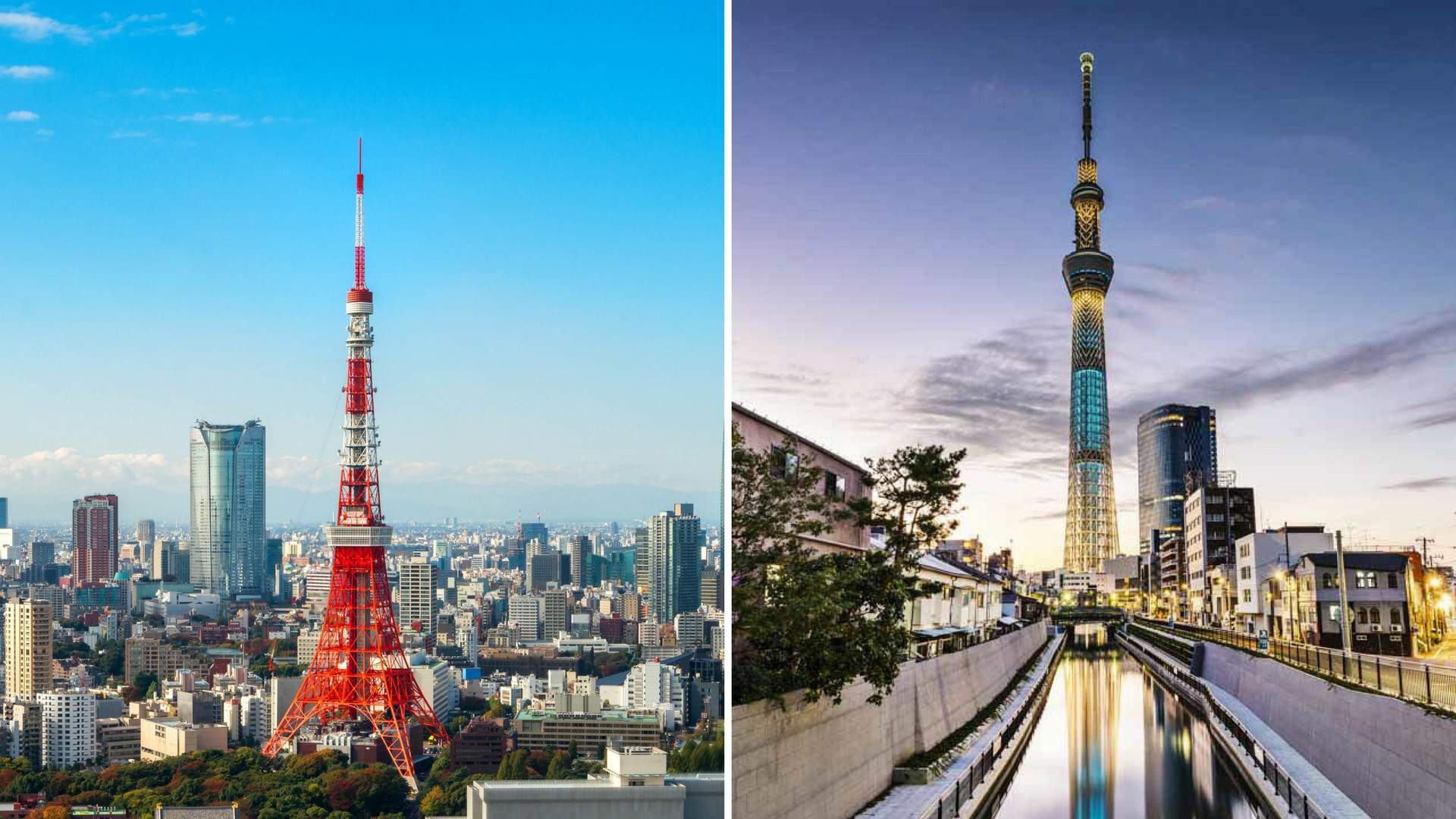 tokyo tower vs tokyo skytree g day japan