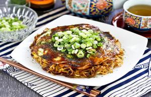 1Hiroshima style okonomiyaki pancakes