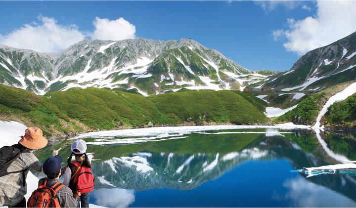 Toyama prefecture, Summer at Tateyama Kurobe Alpine Route