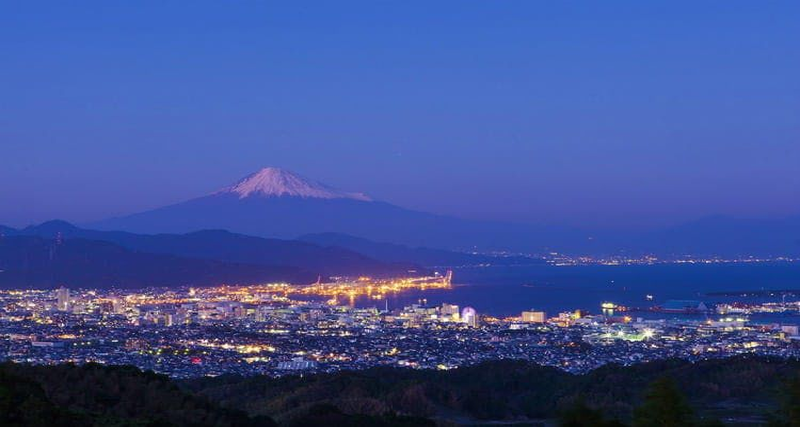 Shizuoka, Nihondaira, Plateau night view (Mount Fuji)